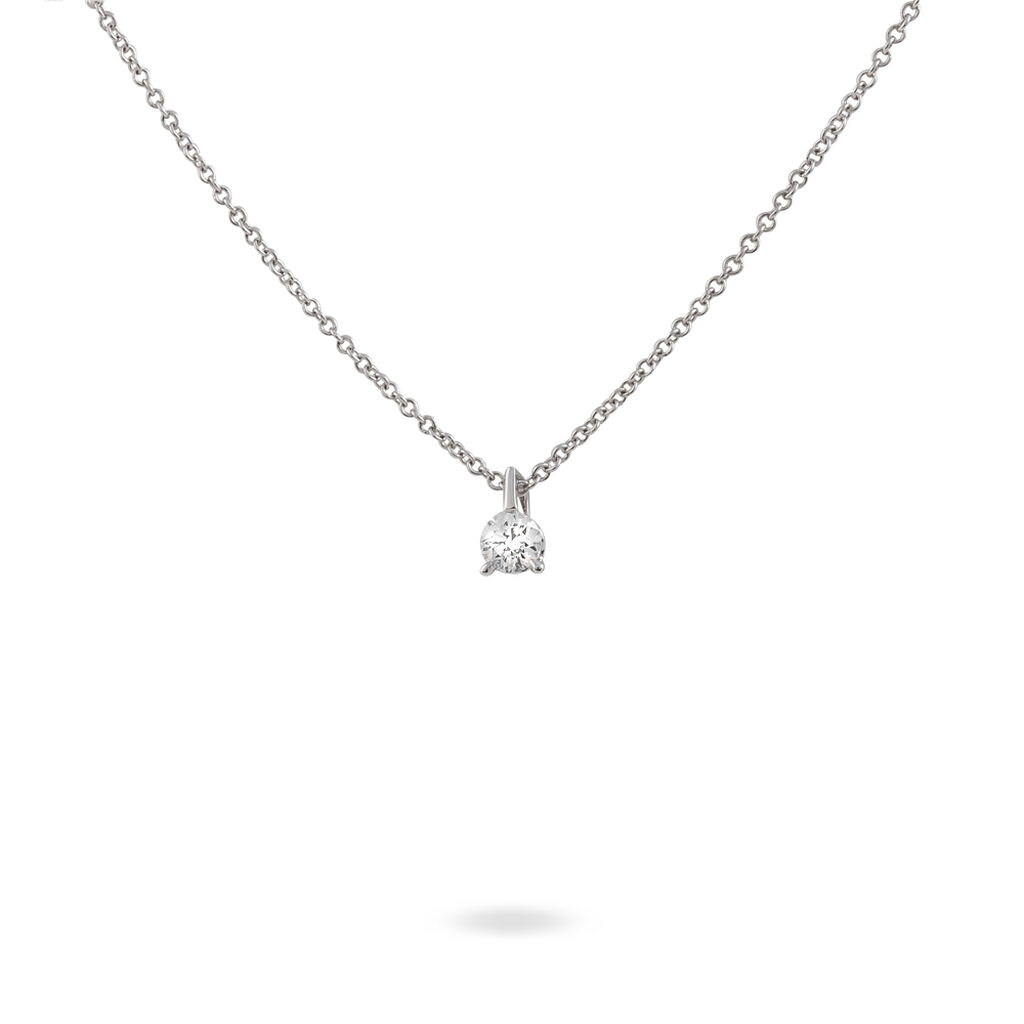 Collier Yunna Or Blanc Diamant - Bijoux Femme | Histoire d'Or