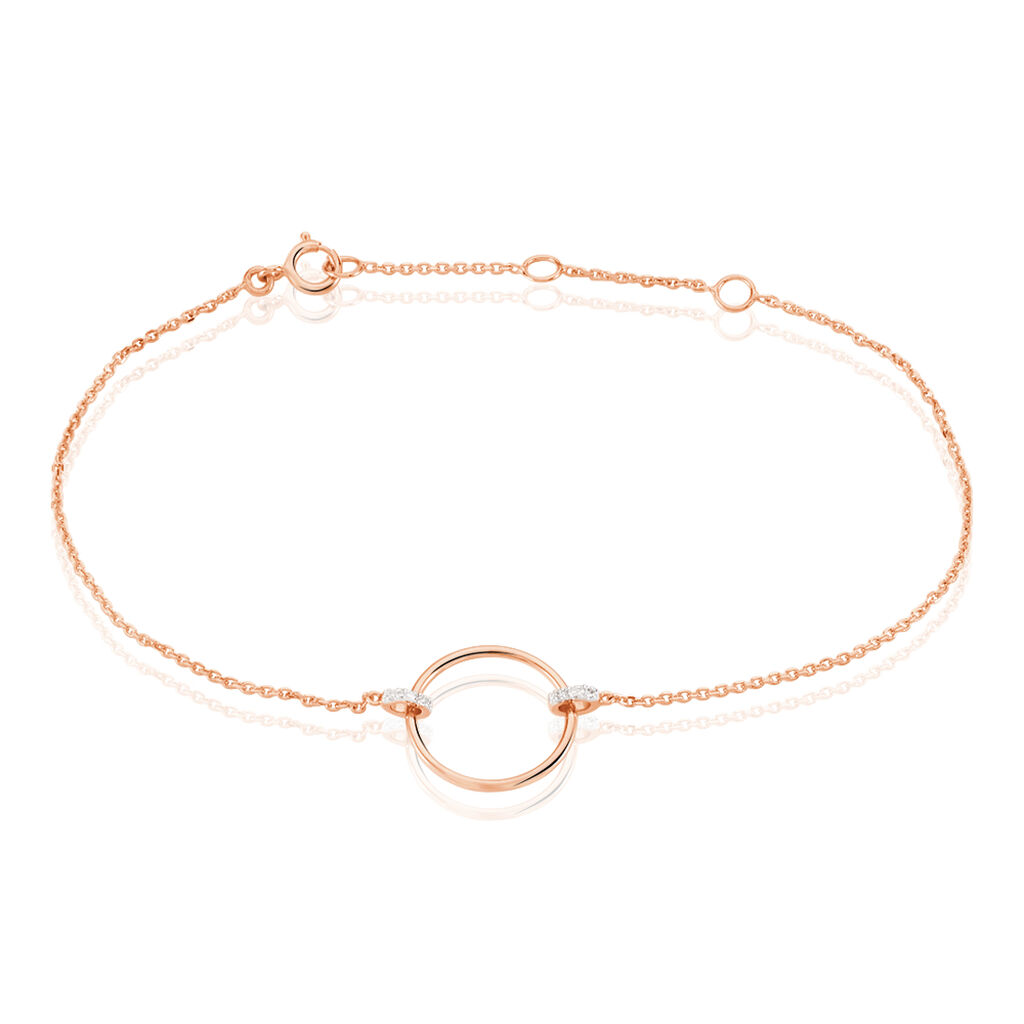 Bracelet Andrina Or Rose Diamant - Bijoux Femme | Histoire d'Or