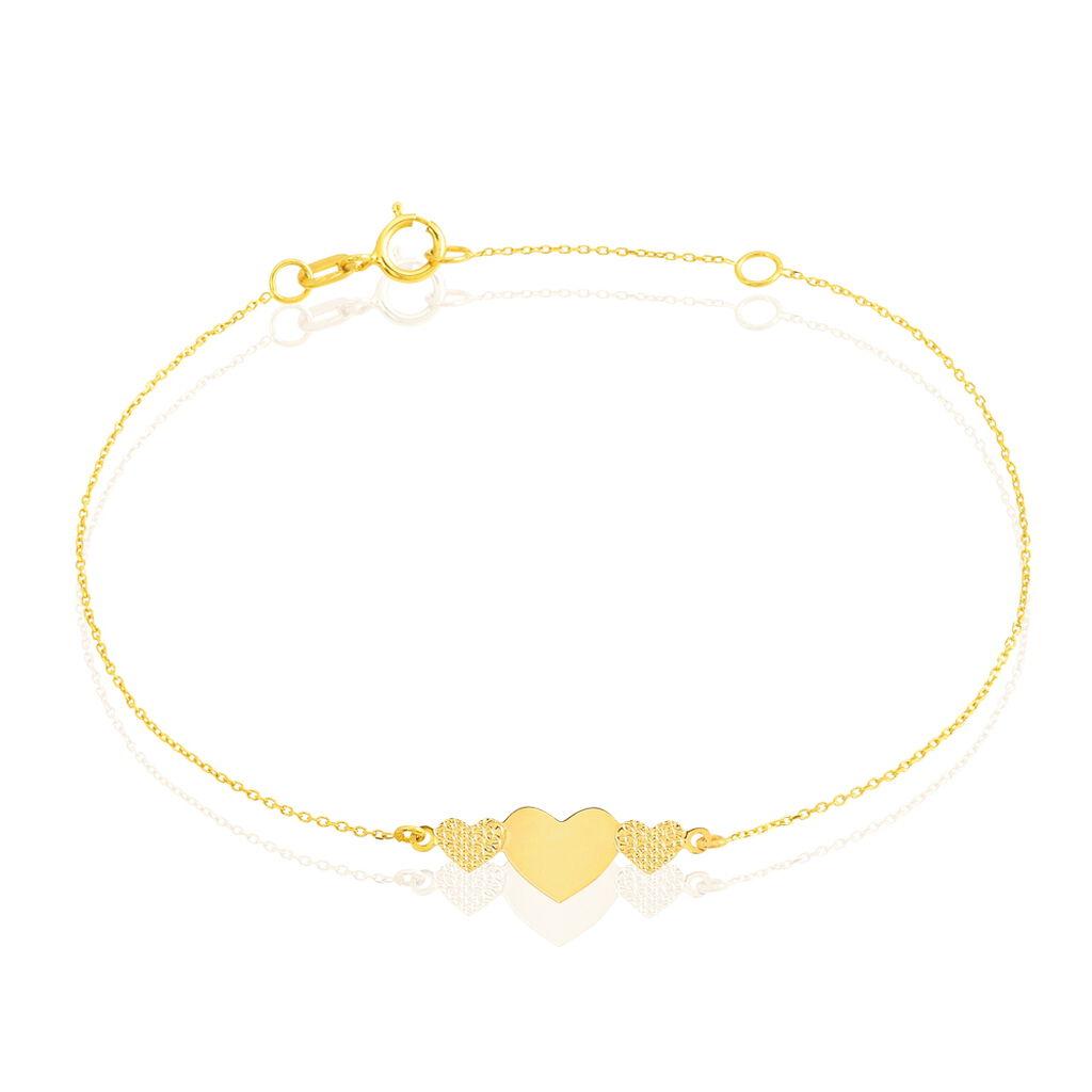 Bracelet Yona Or Jaune - Bracelets Coeur Femme | Histoire d'Or