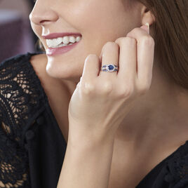 Bague Taliya Or Blanc Saphir Diamant - Bagues solitaires Femme | Histoire d'Or