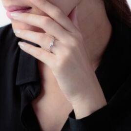 Bague Solitaire Cassendre Or Blanc Diamant - Bagues avec pierre Femme | Histoire d'Or