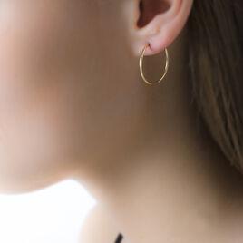 Créoles Dominae Flexible Rondes Or Jaune - Boucles d'oreilles créoles Femme | Histoire d'Or