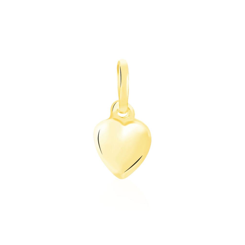 Pendentif Eudocie Coeur Lisse Or Jaune - Pendentifs Coeur Femme | Histoire d'Or