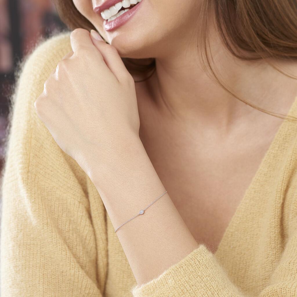 Bracelet Adhira Or Blanc Diamant - Bijoux Femme | Histoire d'Or