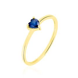 Bague Or Jaune Lissounia Coeur Saphir - Bagues Coeur Femme | Histoire d'Or