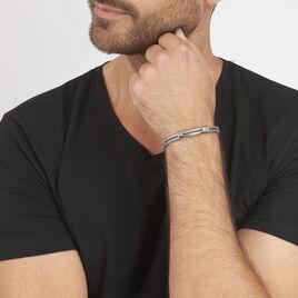 Bracelet Naemie Or Acier Blanc - Bijoux Homme   Histoire d'Or