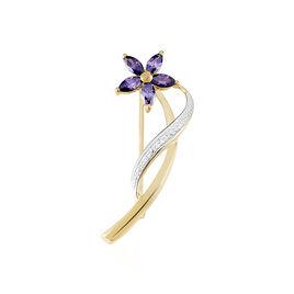 Broche Maxanceae Plaque Or Jaune Oxyde De Zirconium - Autres bijoux Femme   Histoire d'Or