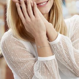 Bracelet Oumeima Argent Blanc - Bracelets fantaisie Femme | Histoire d'Or