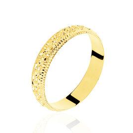 Alliance Fantaisie Diamantee Ruban Plat Or Jaune - Alliances Unisexe   Histoire d'Or