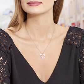 Collier Clarra Argent Blanc - Colliers Coeur Femme | Histoire d'Or