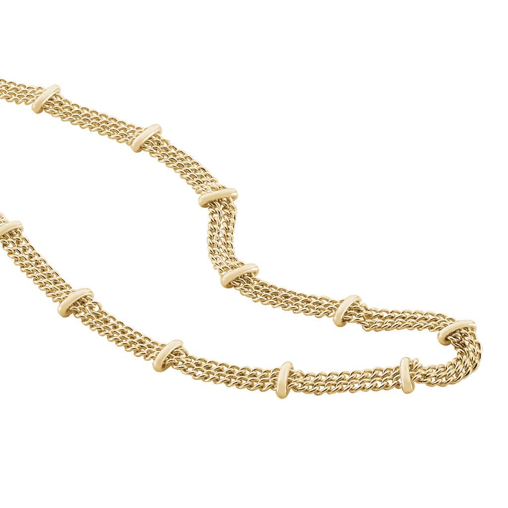 Collier Naria Plaque Or Jaune - Colliers doubles et triples chaînes Femme | Histoire d'Or