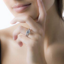Bague Solitaire Anthyme Or Blanc Oxyde De Zirconium - Bagues solitaires Femme | Histoire d'Or