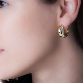 Créoles Telly Jonc Bombe Or Jaune - Boucles d'oreilles créoles Femme | Histoire d'Or