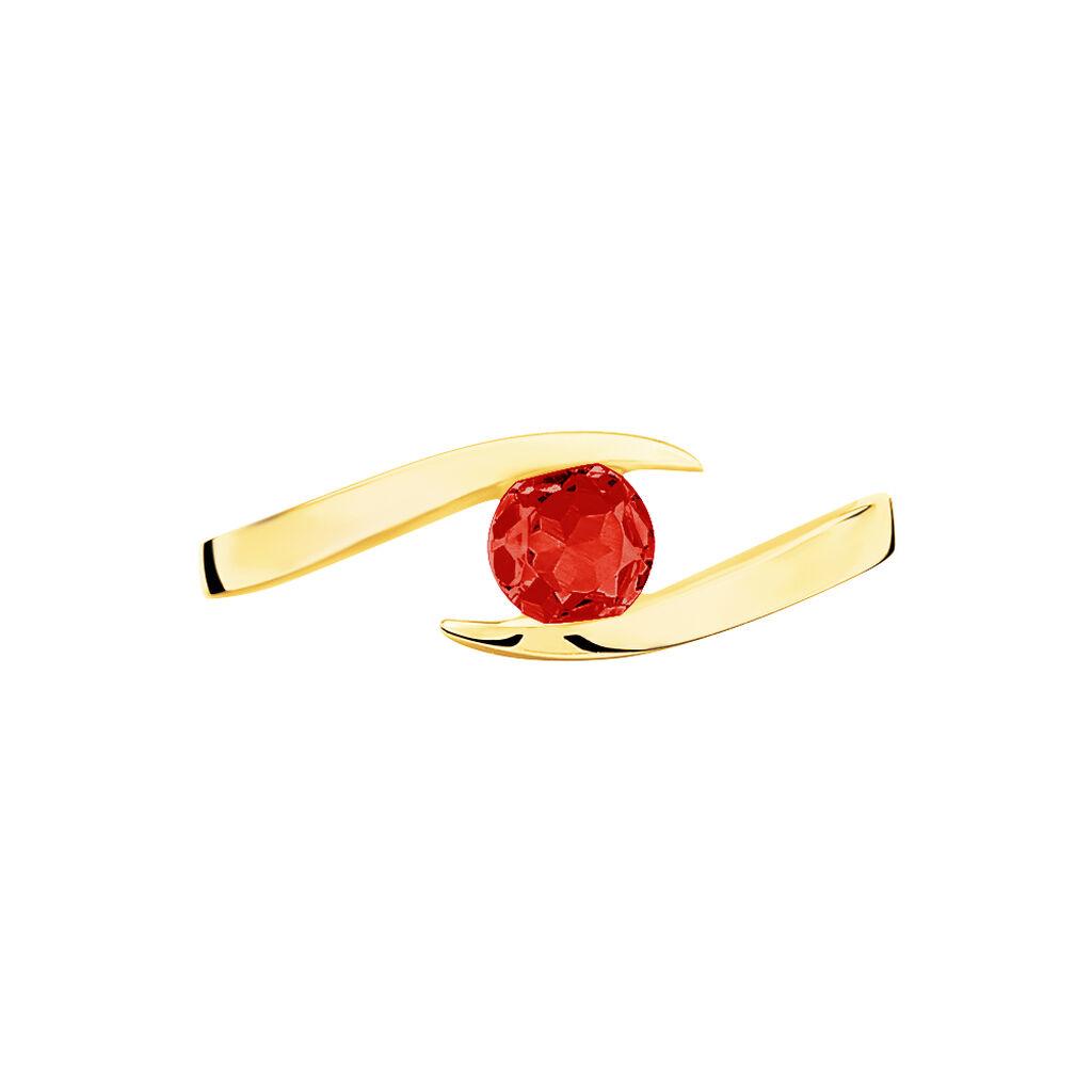 Bague Tiphaine Or Jaune Rubis - Bagues avec pierre Femme   Histoire d'Or