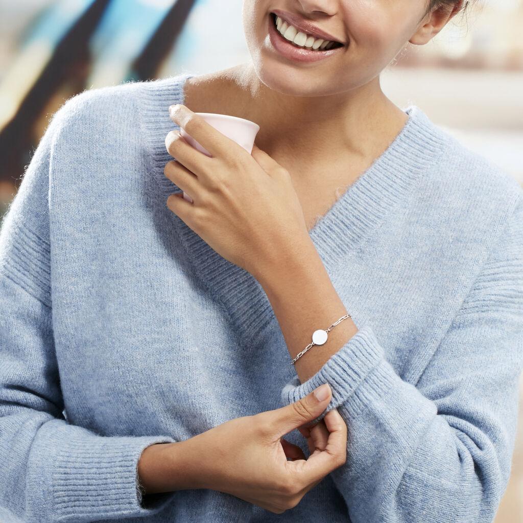 Bracelet Anaee Argent Blanc - Bracelets fantaisie Femme   Histoire d'Or