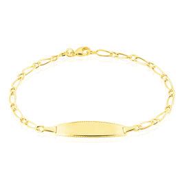 Bracelet Identité Bartolomee Maille Alternee 1/1 Or Jaune - Bracelets Communion Enfant | Histoire d'Or