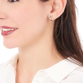Créoles Bleona Croisees Or Bicolore - Boucles d'oreilles créoles Femme   Histoire d'Or