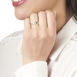Bague Nessie Or Jaune Diamant - Bagues avec pierre Femme   Histoire d'Or