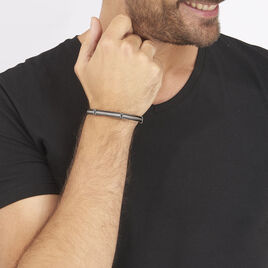 Bracelet Anthony Acier Blanc - Bracelets fantaisie Homme | Histoire d'Or