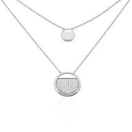 Collier Laetizia Clara Argent Blanc Oxyde De Zirconium - Bijoux Femme   Histoire d'Or