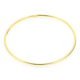 Bracelet Jonc Cynthia Fil Rond Lisse Or Jaune - Bracelets joncs Unisex | Histoire d'Or