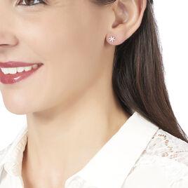 Boucles D'oreilles Puces Aissam Or Blanc Diamant - Clous d'oreilles Femme | Histoire d'Or
