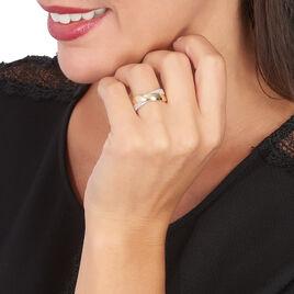 Bague Sakura Or Bicolore Diamant - Bagues avec pierre Femme | Histoire d'Or