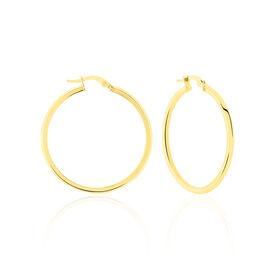Créoles Ilana Lisses Fil Triangle Or Jaune - Boucles d'oreilles créoles Femme   Histoire d'Or