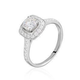 Bague Solitaire Raiponce Or Blanc Diamant Synthetique - Bagues avec pierre Femme | Histoire d'Or