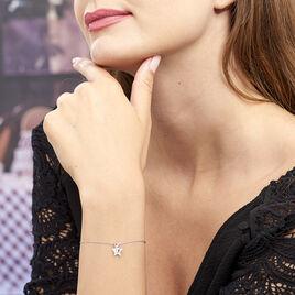 Bracelet Astre Argent Blanc Oxyde De Zirconium - Bijoux Etoile Femme | Histoire d'Or