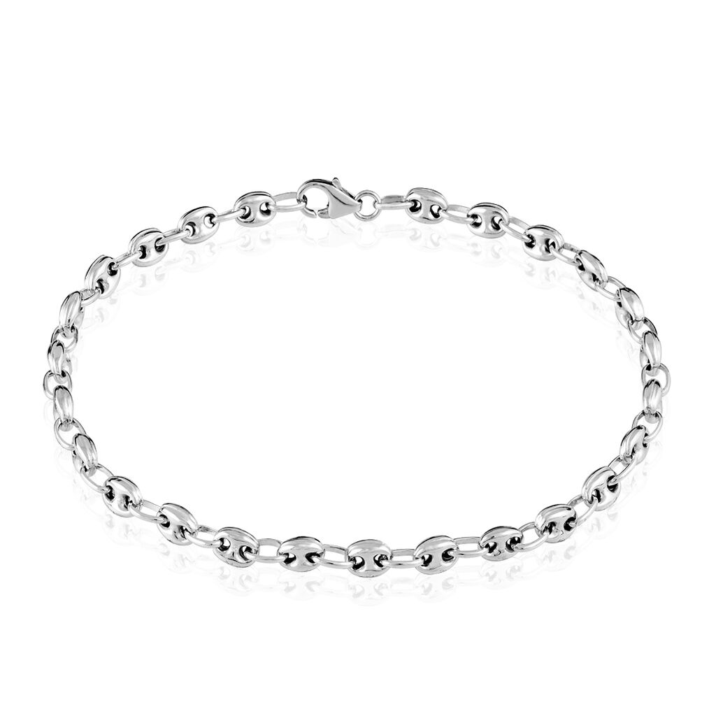 Bracelet Argent Blanc - Bracelets chaîne Femme   Histoire d'Or