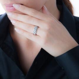 Bague Or Blanc Topaze Et Diamant - Bagues avec pierre Femme   Histoire d'Or