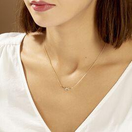 Collier Yris Plaque Or Jaune - Colliers fantaisie Femme | Histoire d'Or
