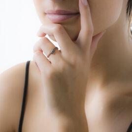 Bague Amelie Or Rose Rubis Et Diamant - Bagues avec pierre Femme   Histoire d'Or