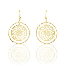 Boucles D'oreilles Pendantes Rosace Or Jaune - Boucles d'oreilles pendantes Femme | Histoire d'Or