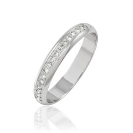 Alliance Or Blanc Et Diamants 3.5mm - Alliances Femme | Histoire d'Or