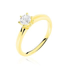 Bague Solitaire Venda Or Jaune Diamant - Bagues solitaires Femme | Histoire d'Or