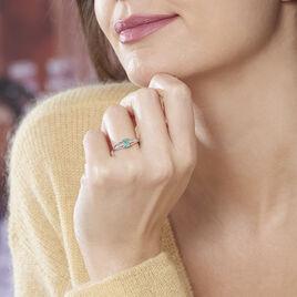 Bague Denise Or Blanc Emeraude Et Diamant - Bagues avec pierre Femme   Histoire d'Or