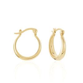 Créoles Shina Fil Large Plaque Or Jaune - Boucles d'oreilles créoles Femme | Histoire d'Or