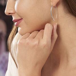 Boucles D'oreilles Pendantes Bira Argent Blanc - Boucles d'oreilles fantaisie Femme | Histoire d'Or