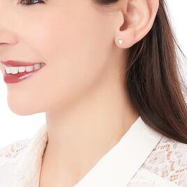 Boucles D'oreilles Puces Anne-berengere Triangle Or Jaune - Clous d'oreilles Femme   Histoire d'Or