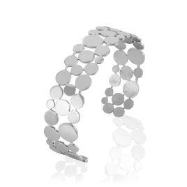 Bracelet Jonc Abrielle Acier Blanc - Bracelets fantaisie Femme | Histoire d'Or