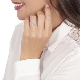 Bague Emmelyne Or Blanc Topaze - Bagues avec pierre Femme | Histoire d'Or