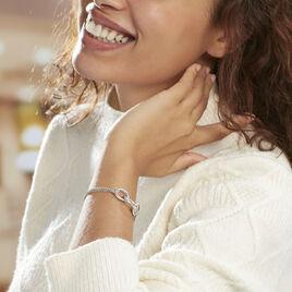 Bracelet Abassia Argent Blanc - Bracelets fantaisie Femme | Histoire d'Or