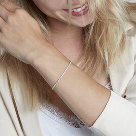 Bracelet Nerissa Argent Blanc Oxyde De Zirconium - Bracelets fantaisie Femme   Histoire d'Or