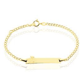 Bracelet Identite Bebe Or Jaune Enya - Bracelets Communion Enfant | Histoire d'Or
