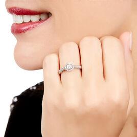 Bague Liah Or Blanc Diamant - Bagues avec pierre Femme   Histoire d'Or