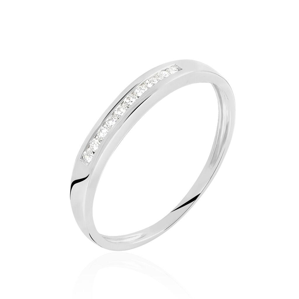 Alliance Yamile Or Blanc Diamant - Alliances Femme   Histoire d'Or