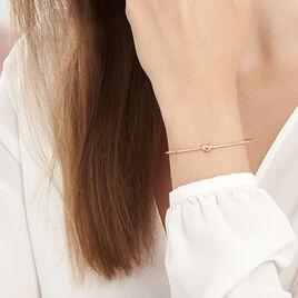 Bracelet Jonc Ania Argent Rose - Bracelets fantaisie Femme | Histoire d'Or