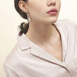 Boucles D'oreilles Pendantes Andrienne Argent Blanc - Boucles d'Oreilles Plume Femme   Histoire d'Or
